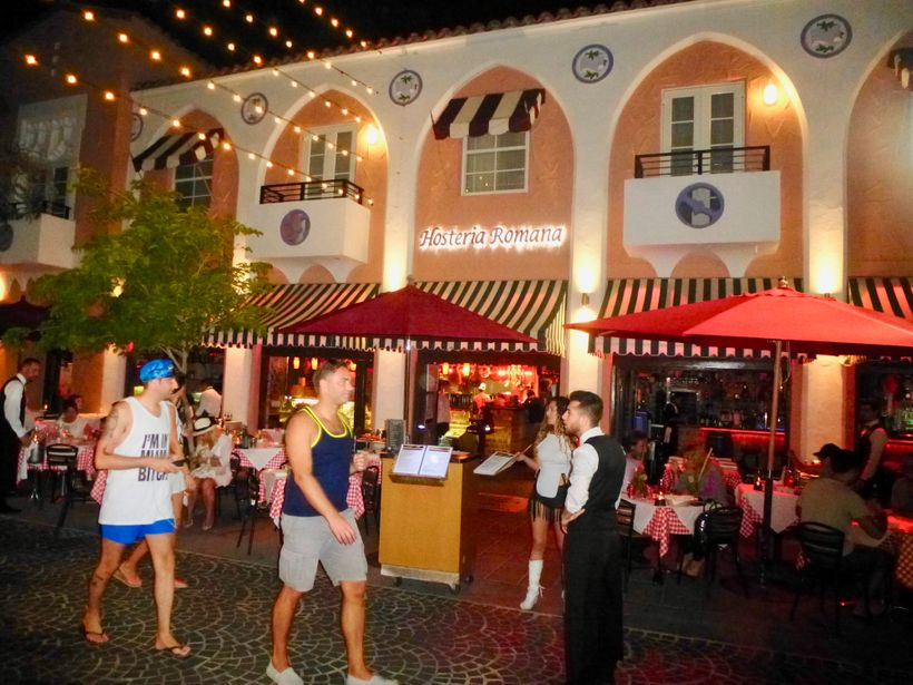 The most treasured Italian restaurant on  Española Way  is the very lively  Hosteria Romana.