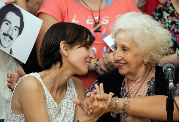 Adriana with Estela de Carlotto, president ofGrandmothers of the Plaza de Mayo, a campaign group...