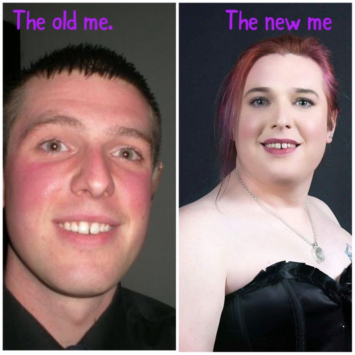 the old me as a male to the new me