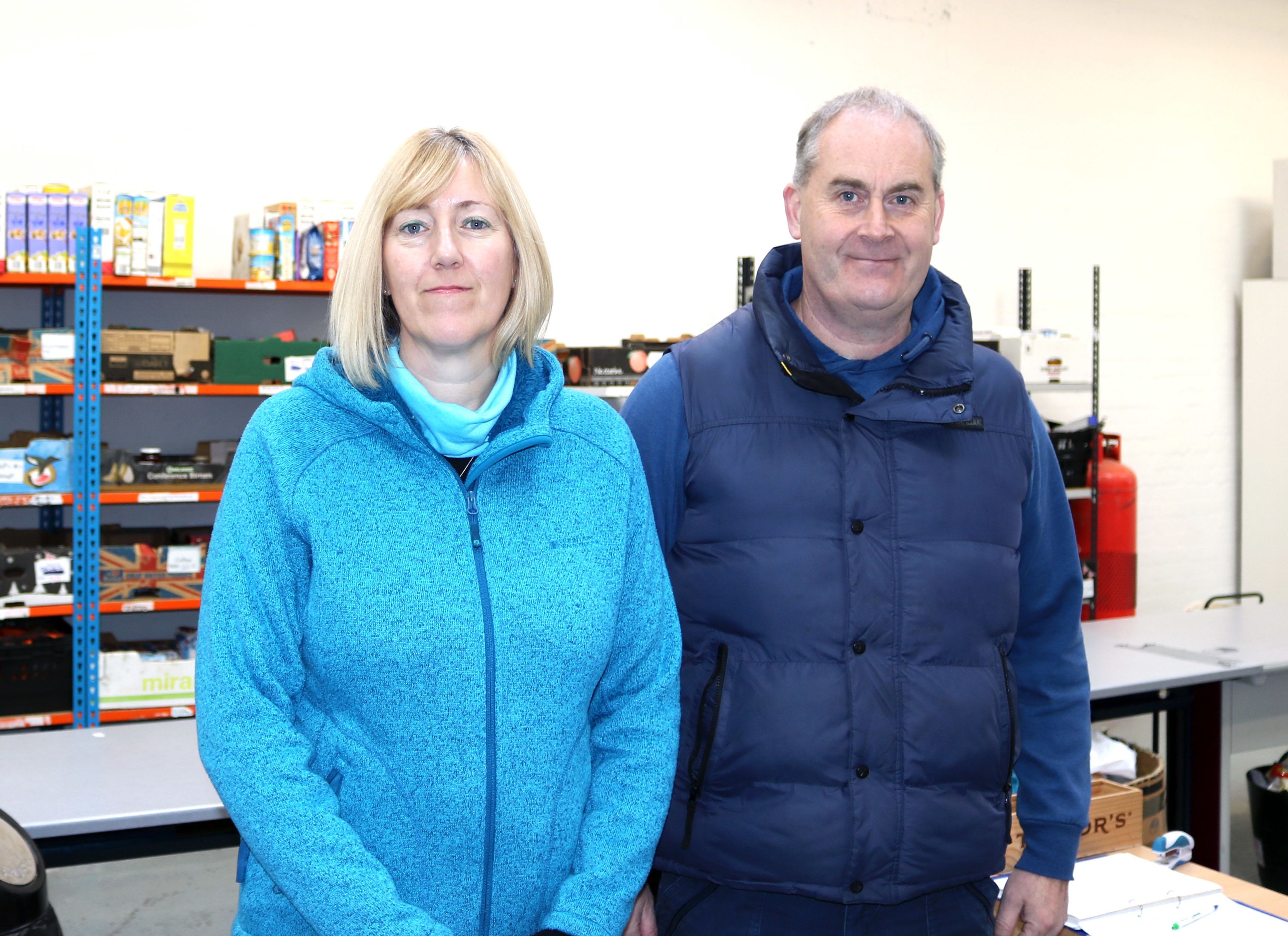 <strong>Caroline and Gary Price are joint co-project leaders at The Well food bank in Wolverhampton</strong>