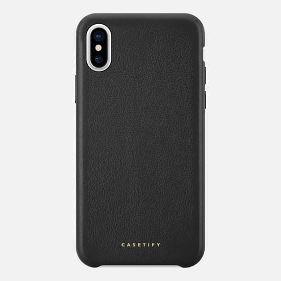 "Stylishly protect his phone with this <a href=""https://www.casetify.com/product/leather-standard/iphone-x/481600?color=silver"