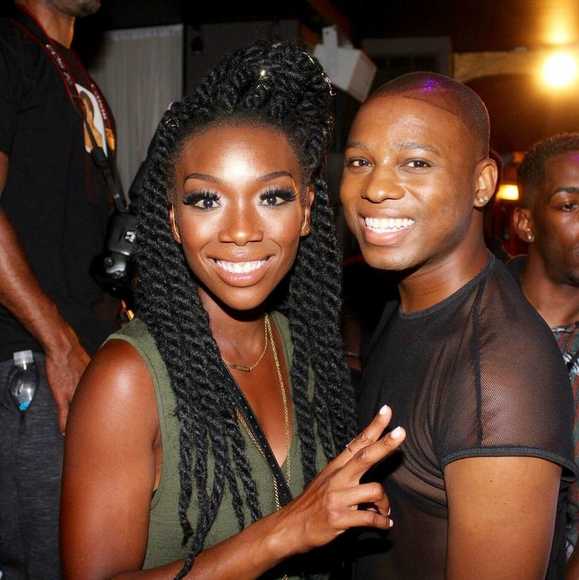 Vaughn Alvarez and Brandy Norwood
