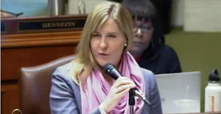 Melissa Hortman called out her white male colleagues in the Minnesota state House for failing to show up for speeches by