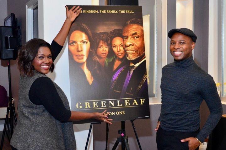 "<p>Vaughn Alvarez on a press day with Deborah Joy Winans of ""Greenleaf"" </p>"