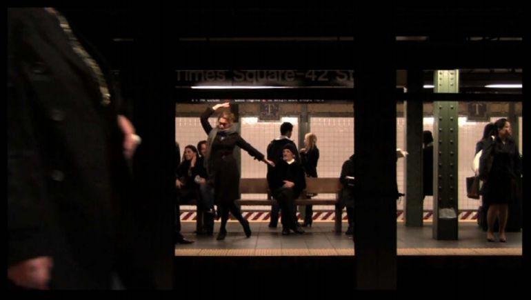 """""""Dancing by myself in public"""" (2010), video, Jian Yi"""