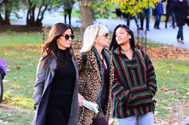 Sandra Bullock, Cate Blanchett and Rihanna film scenes in New York City for