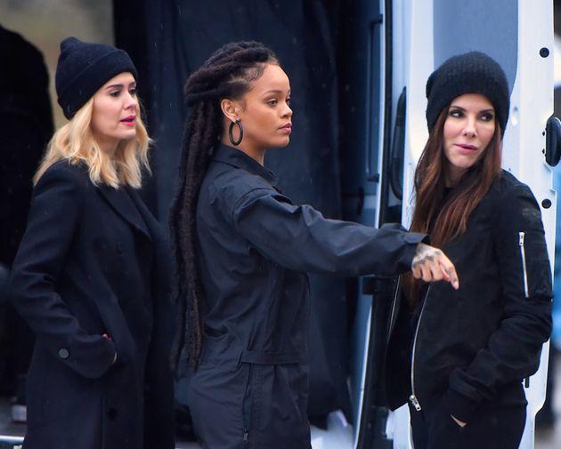 Sarah Paulson, Rihanna and Bullock on