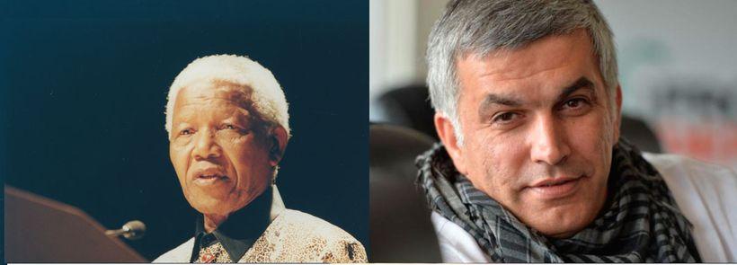 Nelson Mandela and Nabeel Rajab