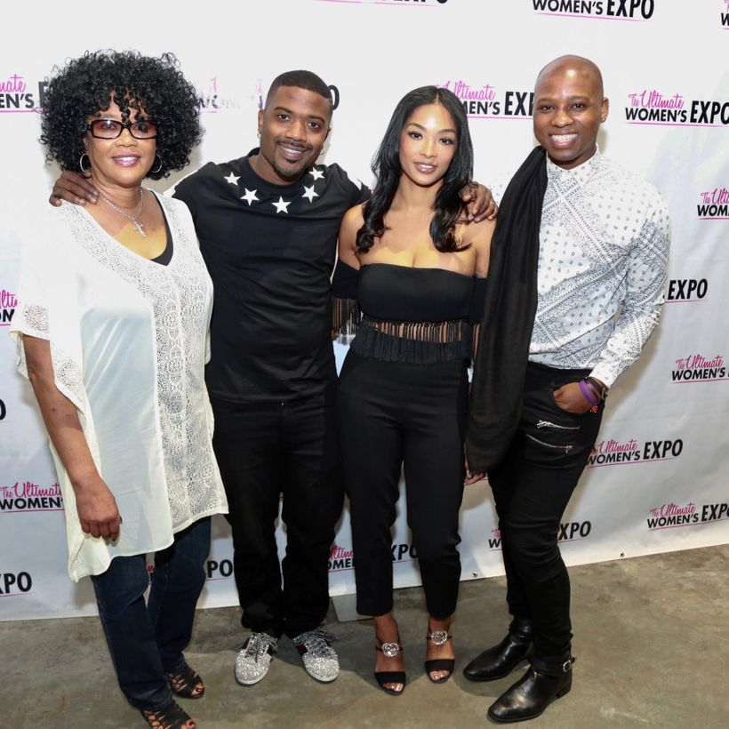 Vaughn Alvarez with Sonja Norwood, Ray J, and Princess Love