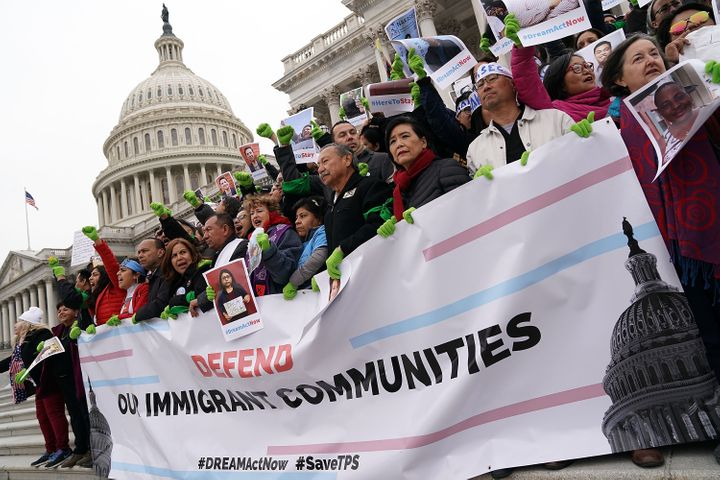 Some immigrant rights advocates rallied on the steps of the Capitol in an act of civil disobedience.