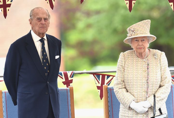 Queen Elizabeth and Prince Philip on a royal visit earlier this year.