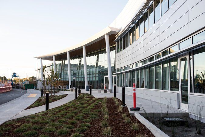 Design Tech High School on the Oracle campus in Redwood Shores, California.