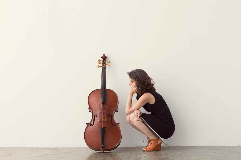 Elinor Frey and 5-string Baroque cello