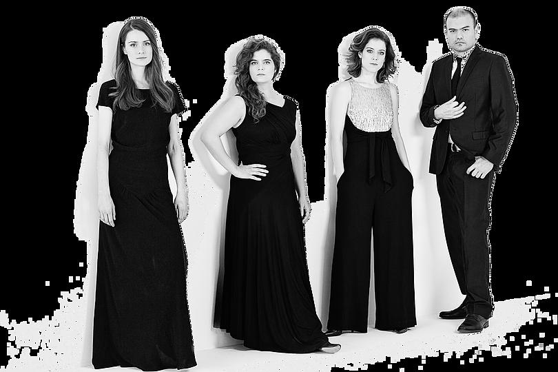 Pallade Musica, l. to r.: Mélisande McNabney,Tanya LaPerrière,Elinor Frey, Esteban La Rotta
