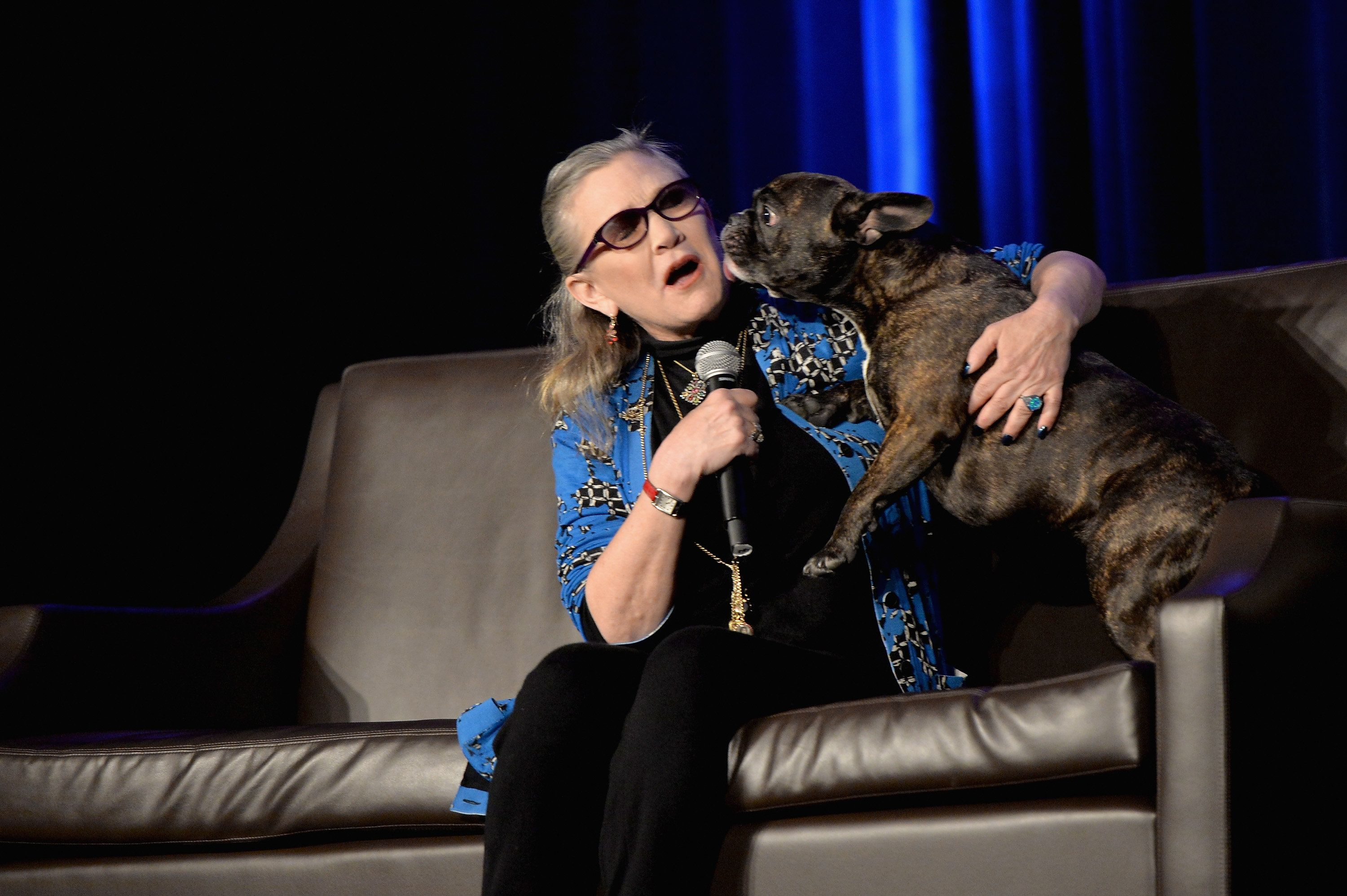 ROSEMONT, IL - AUGUST 21:  Actress Carrie Fisher speaks onstage during Wizard World Comic Con Chicago 2016 - Day 4 at Donald E. Stephens Convention Center on August 21, 2016 in Rosemont, Illinois.  (Photo by Daniel Boczarski/Getty Images for Wizard World)
