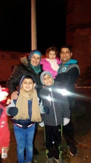 Maher Al Melhem, Nidaa Al Ahlab and their children Oday, Qosay and