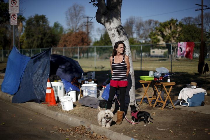 Stacie McDonough, 51, is an army veteran with a college degree who was made made homeless. In this Oct. 2015 picture, she's s