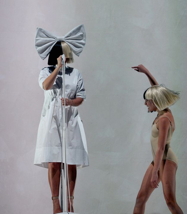 Sia and Maddie Ziegler performing in Las