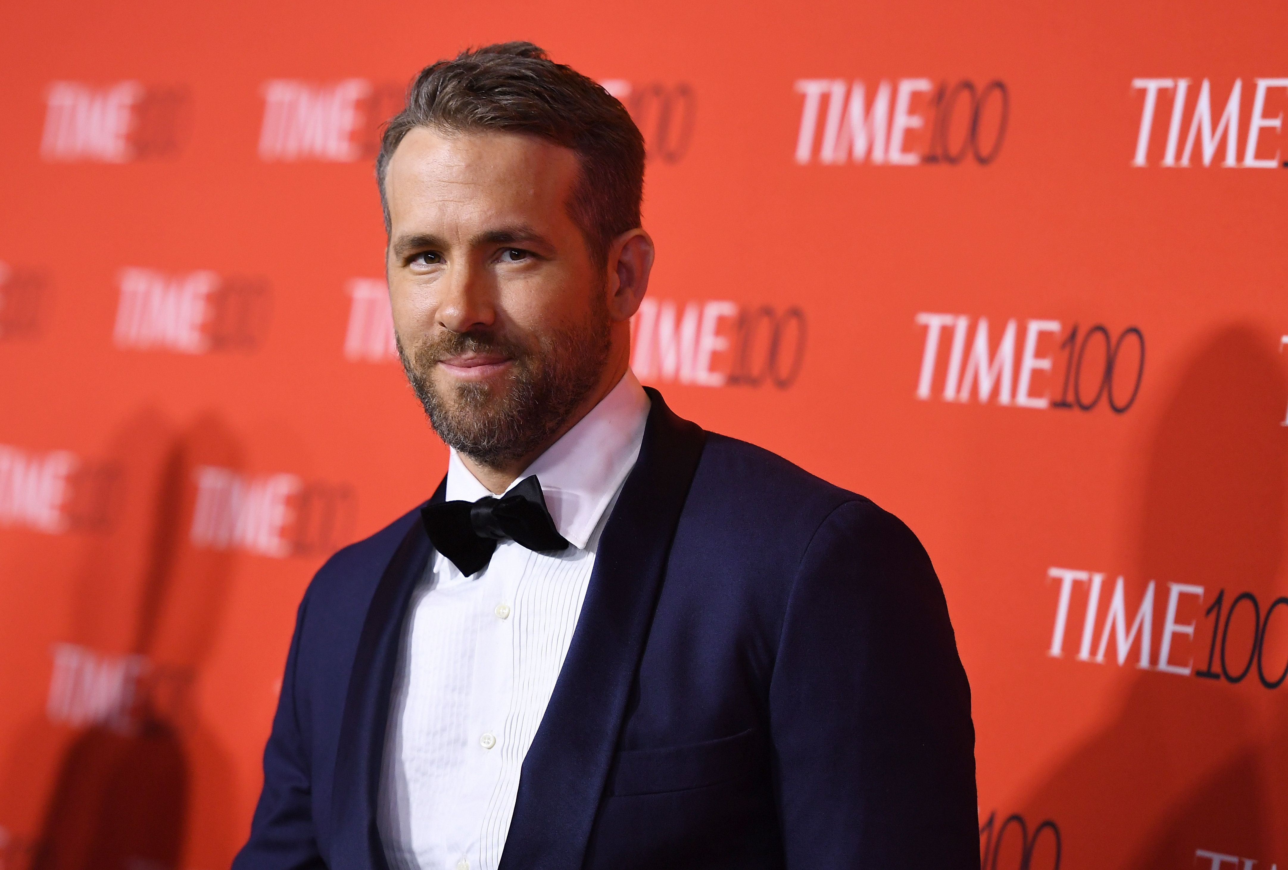 Ryan Reynolds attends the 2017 Time 100 Gala at Jazz at Lincoln Center on April 25, 2017 in New York City. / AFP PHOTO / ANGELA WEISS        (Photo credit should read ANGELA WEISS/AFP/Getty Images)