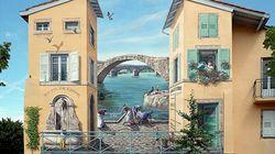 Αστικοί τοίχοι μεταμορφώνονται σε τρισδιάστατα έργα