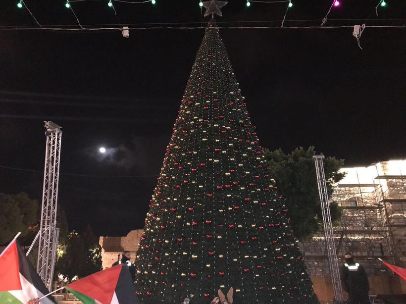 Meanwhile Christians in Bethlehem have turned off their Xmas tree lights to protest Trumps decision.