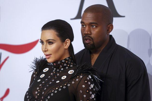 Kim Kardashian and Kanye West at the CFDA Fashion Awards on June 1,