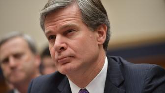 FBI Director Christopher Wray arrives to testify before the House Judiciary Committee  on oversight of the Federal Bureau of Investigation in the Rayburn House Office Building in Washington, DC on December 7, 2017.  / AFP PHOTO / MANDEL NGAN        (Photo credit should read MANDEL NGAN/AFP/Getty Images)