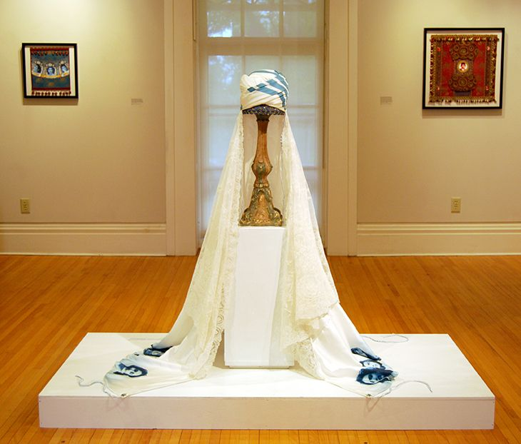 Marriage Turban Fez: To Have and To Hold, on view at Silvermine Arts Center