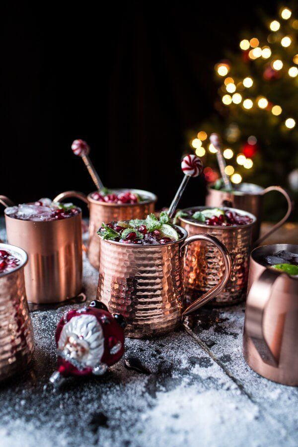 """<strong>Get the <a href=""""https://www.halfbakedharvest.com/pomegranate-peppermint-moscow-mules-video/"""" target=""""_blank"""">Pomegra"""