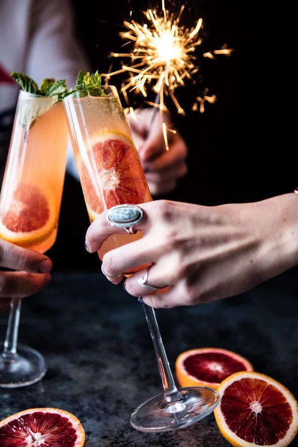 "<strong>Get the<a href=""https://www.halfbakedharvest.com/blood-orange-champagne-mule/"" target=""_blank""> Blood Orange Champagn"