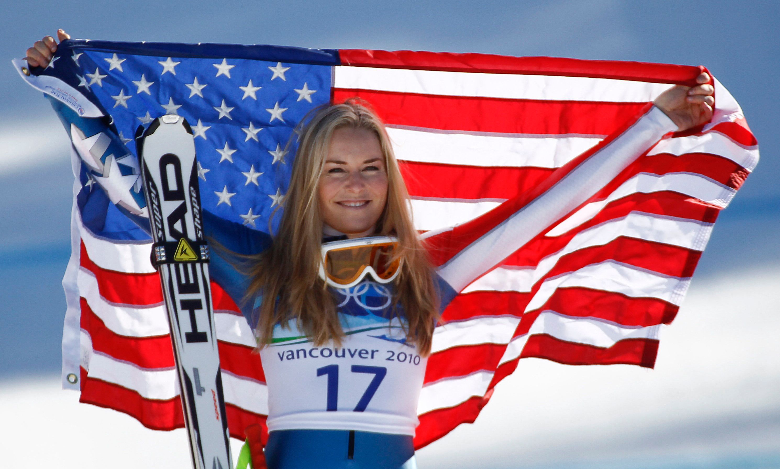 Leonhard Foeger  Reuters Vonn holds up a flag after winning bronze at the 2010 Winter Olympics