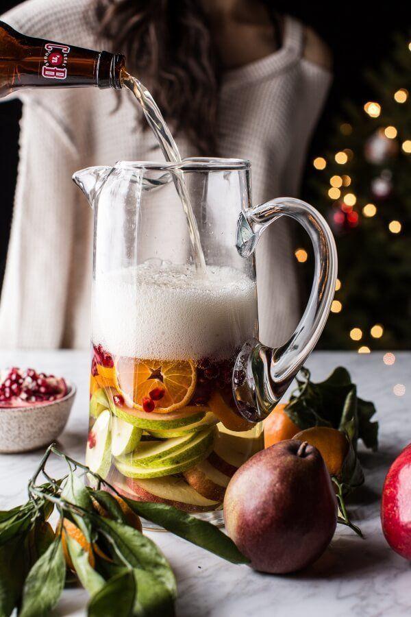 "<strong>Get the <a href=""https://www.halfbakedharvest.com/christmas-sangria/"" target=""_blank"">Christmas Sangria</a> recipe fr"