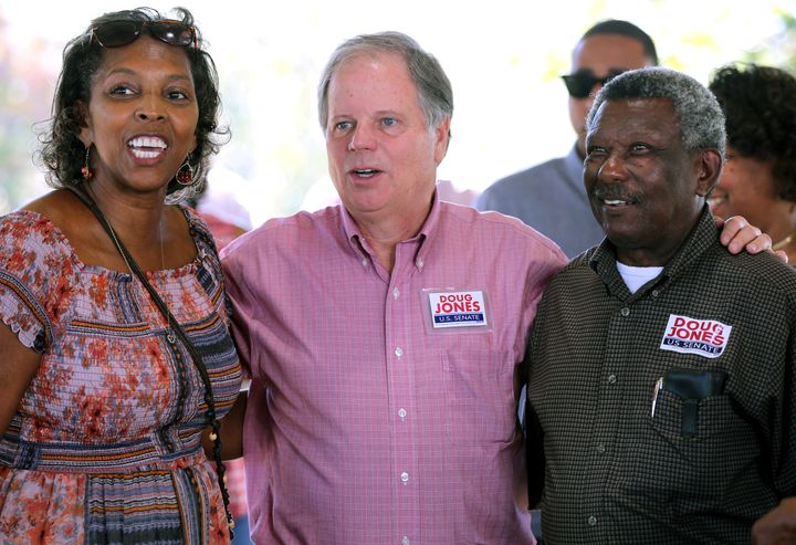 Alabama Democrat Doug Jones is showing some love to the black community in his Senate race against Republican Roy Moore.