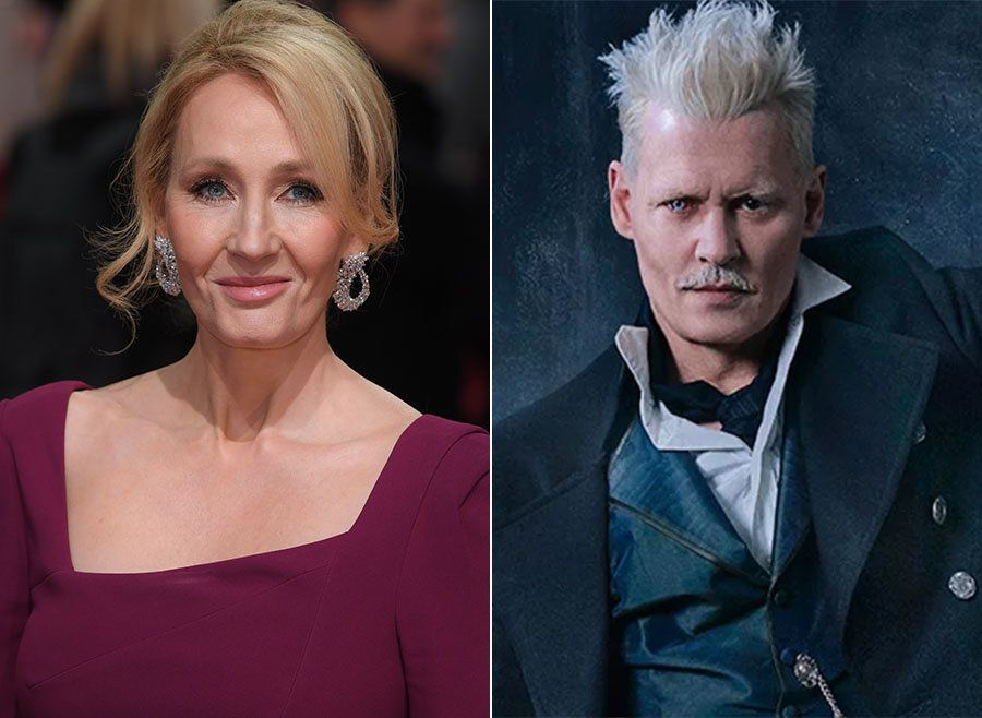 <strong>JK Rowling and Johnny Depp</strong>