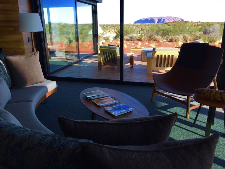 <p><strong>Living Room With Gorgeous Uluru Views -the New 2 Bedroom Dune Pavilion</strong></p>