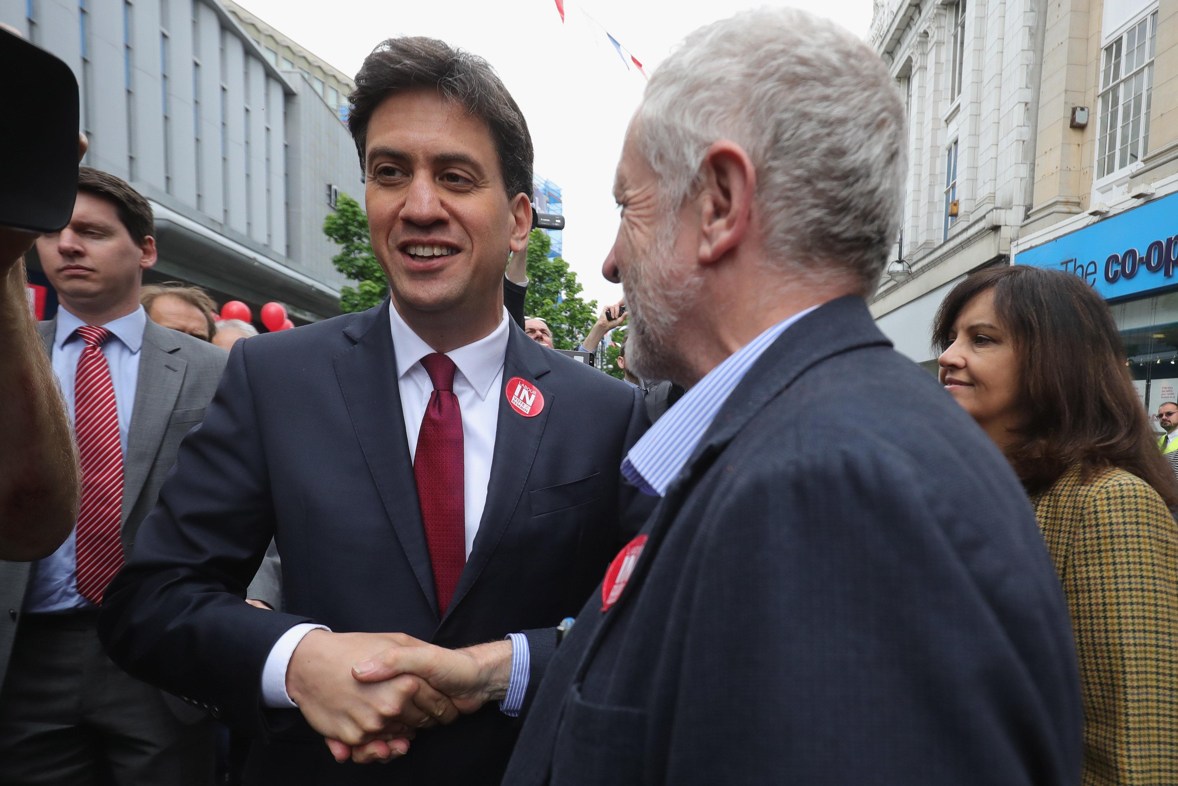 Ed Miliband and Jeremy Corbyn.