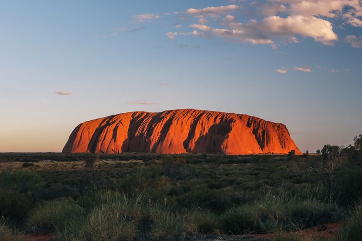 <p><strong>Sunset at Uluru</strong></p>