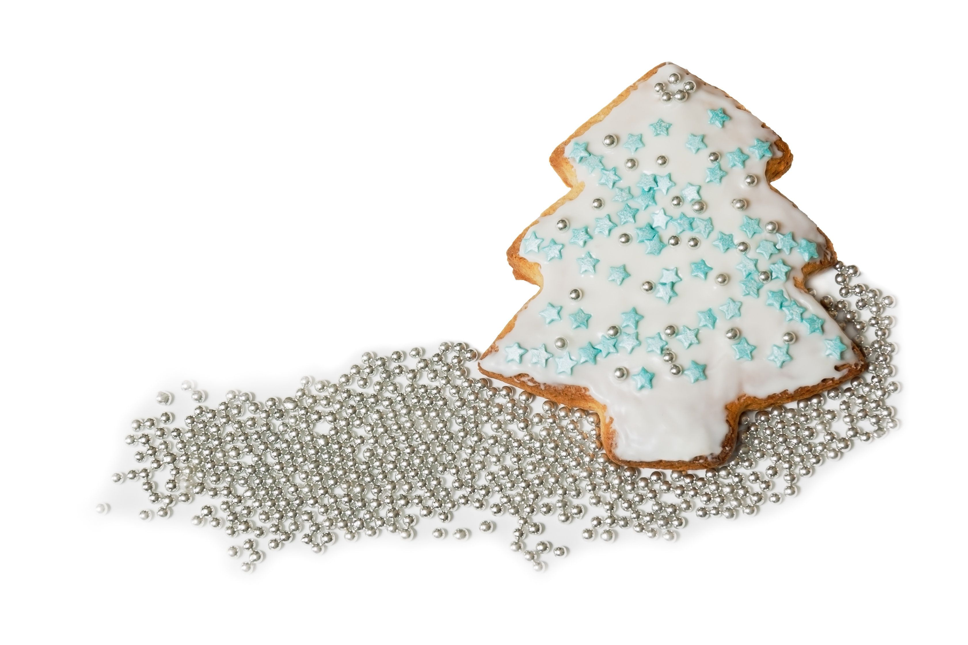 Homemade christmas cookie on a white background