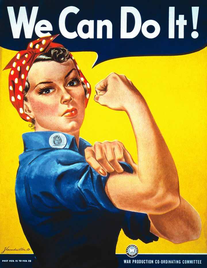 Even Rosie the Riveter wore red lipstick, as Marsh pointed out.