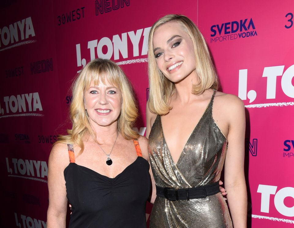 Tonya Harding and Margot Robbie attend the Los Angeles premiere of