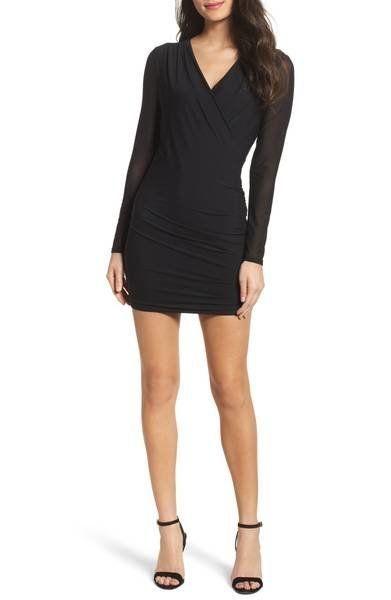 "<a href=""https://shop.nordstrom.com/s/bardot-chloe-mesh-sleeve-minidress/4782724?origin=category-personalizedsort&fashion"