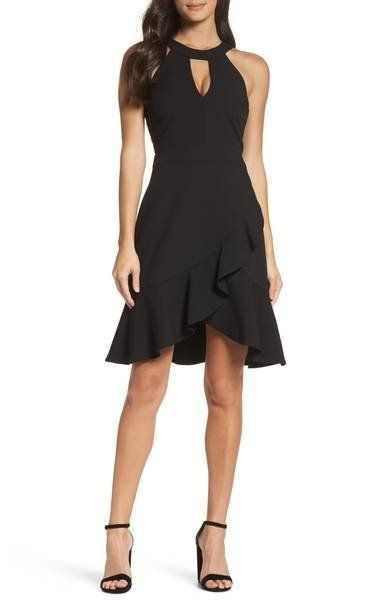 """<a href=""""https://shop.nordstrom.com/s/adelyn-rae-kasi-ruffle-fit-flare-dress/4754044?origin=category-personalizedsort&fas"""