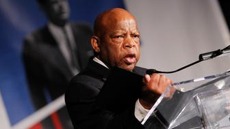 WASHINGTON, DC - MAY 02:  Rep. John Lewis (D-GA) speaks at the American Visionary: John F. Kennedy's Life and Times debut gala at Smithsonian American Art Museum on May 2, 2017 in Washington, DC.  (Photo by Paul Morigi/Getty Images for WS Productions)