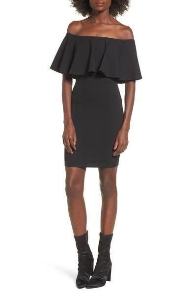 "<a href=""https://shop.nordstrom.com/s/soprano-ruffle-off-the-shoulder-body-con-dress/4713969?origin=category-personalizedsort"