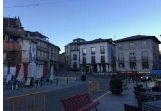 Barren streets in Villafranca on my morning runs.