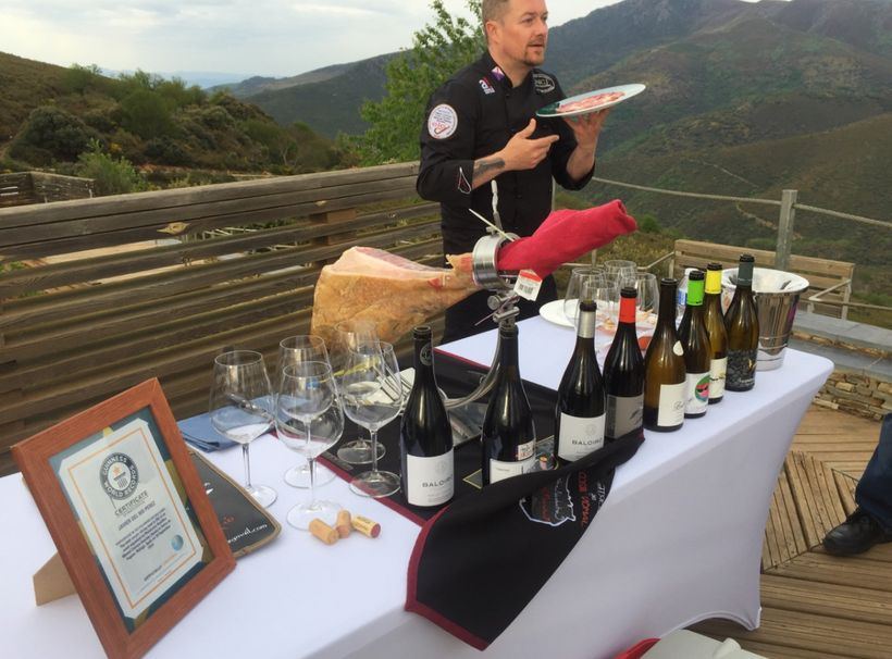 """<em>View from Las Médulas, wine tasting with certified</em> <a rel=""""nofollow"""" href=""""https://www.jamon.com/all-about-jamon.htm"""