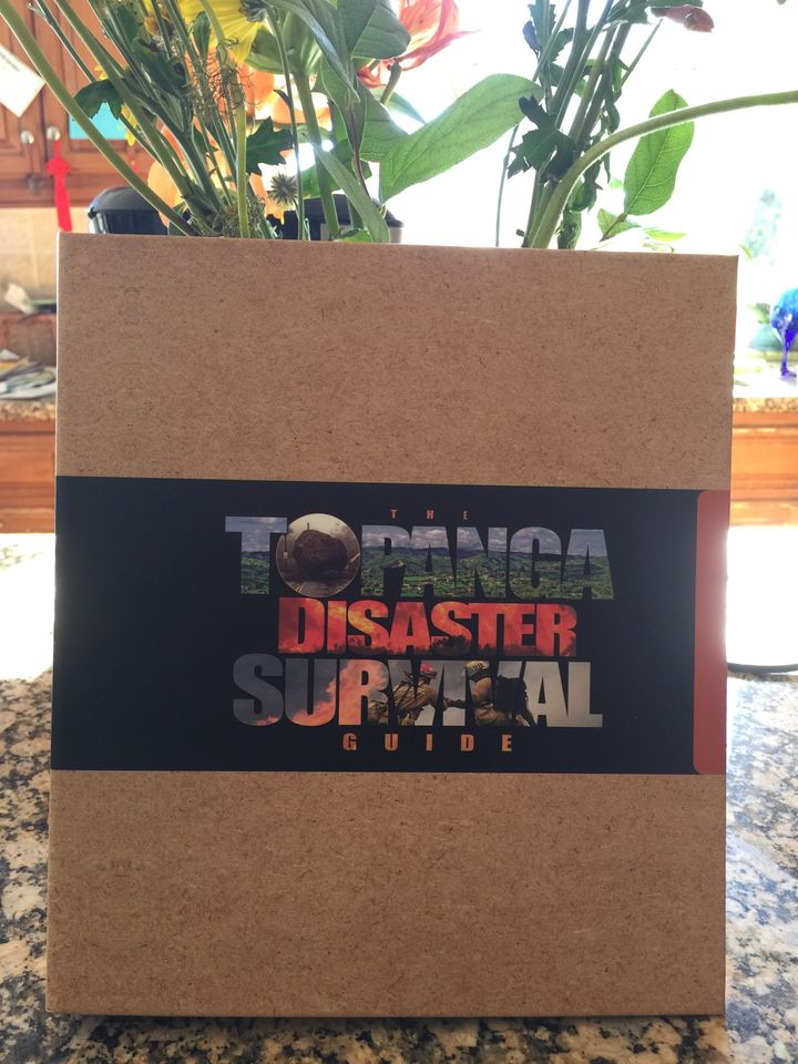"This is the Topanga Disaster Survival Guide, delivered to every home in Topanga. We just call it ""the Bible."""