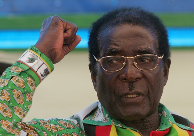 Mugabeleads a pre-electionrally in the capital city of Harare on March 22,