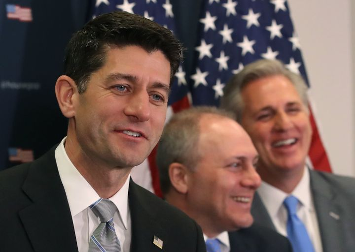Speaker Paul Ryan (R-Wis.) joined other House and Senate leaders for a meeting at the White House on Thursday afternoon.