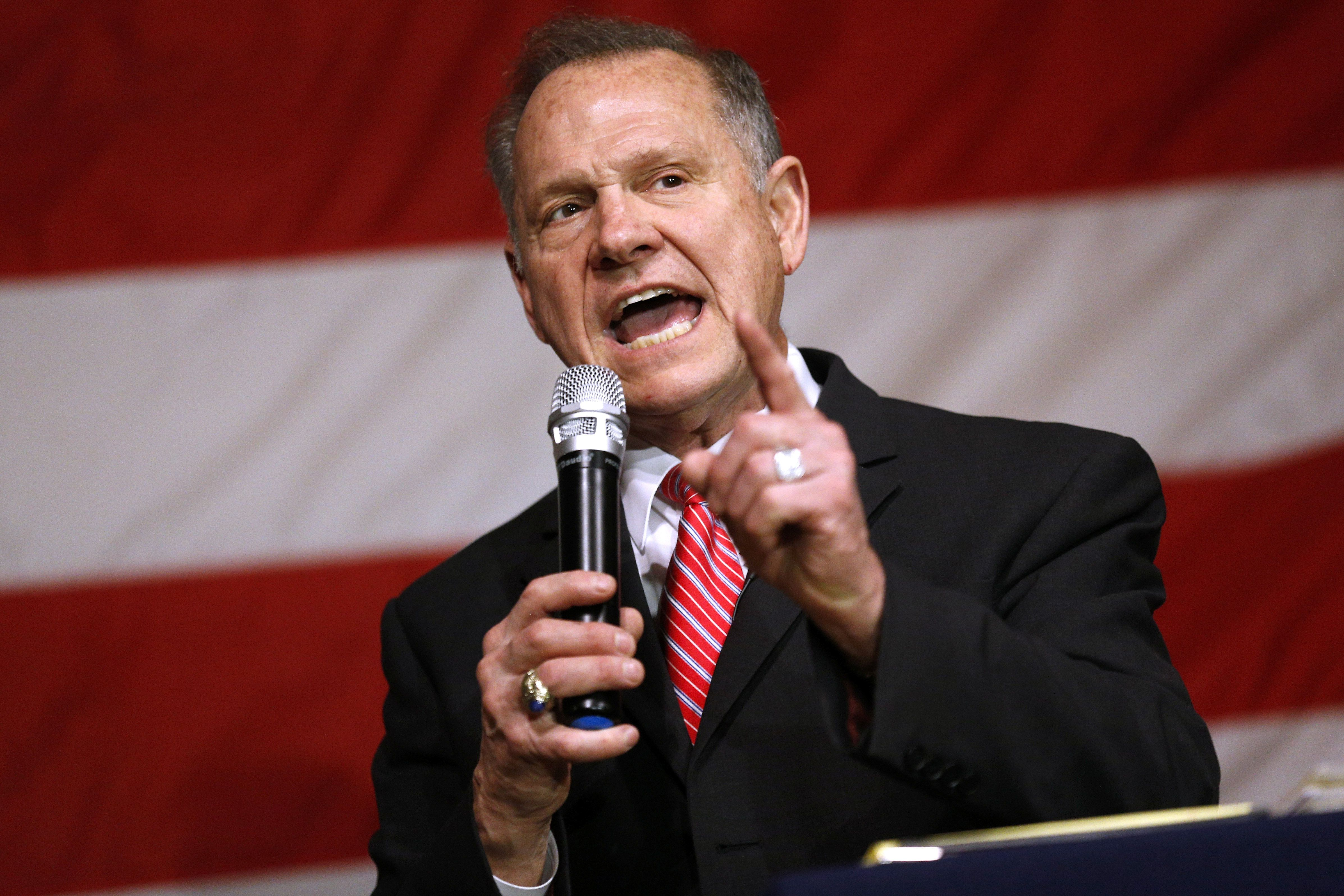 Roy Moore rails in Alabama